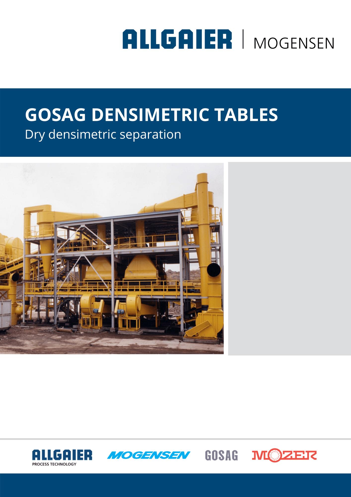GOSAG Densimetric Tables
