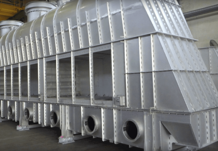 Coarse Material Separation and Outlet at Fluidized Bed Dryers WS-HF-T/K