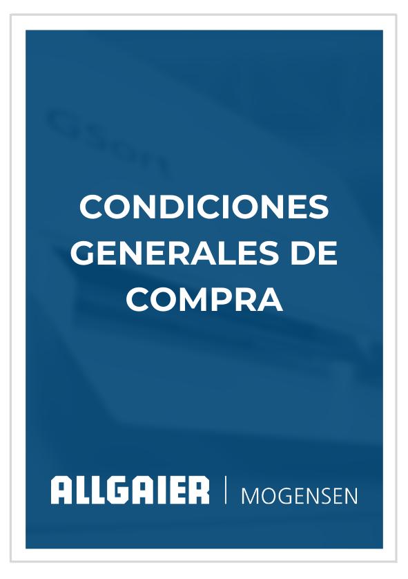 Condiciones Generales de Compra Allgaier Mogensen