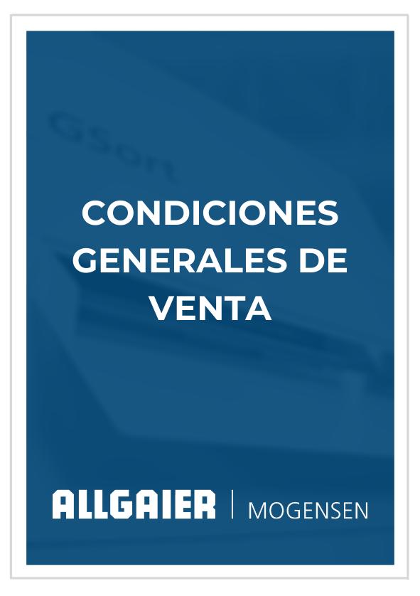 Condiciones Generales de Venta Allgaier Mogensen