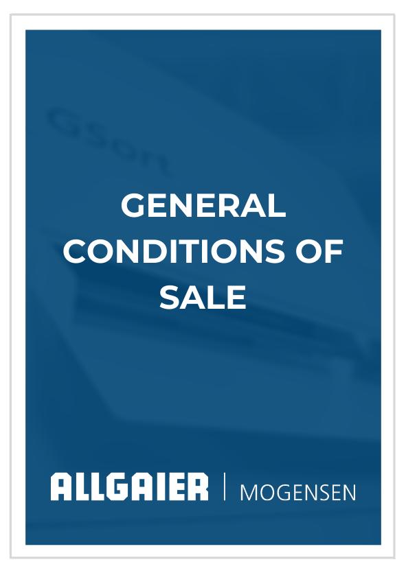 General Conditions of Sale Allgaier Mogensen