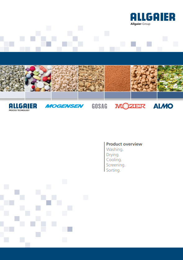 Allgaier Process Technology Product Catalogue