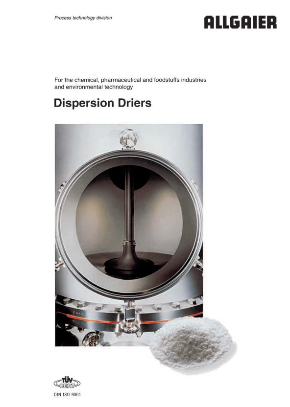 Allgaier dispersion driers